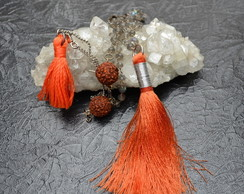 Colar Longo Tassel Orange