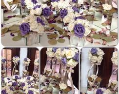 kit espelhado & rosas purpuras