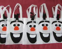Sacola em TNT Frozen: Olaf