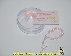 Lembrancinha de Batizado mini ter�o rosa