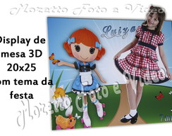 Display 3D com foto mais tema da festa