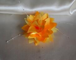 Flor para cabelo Dalia Amarelo P