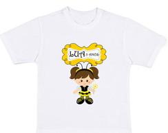 Camiseta de Anivers�rio Tema Abelhinha