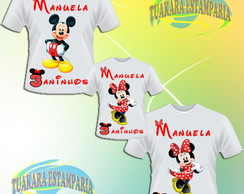 Kit Camiseta - Minnie vermelha