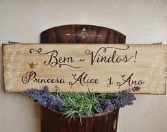 Placa Customiz�vel Para Anivers�rio