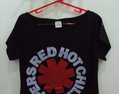 Blusa Gola Canoa Red Hot Chili Peppers