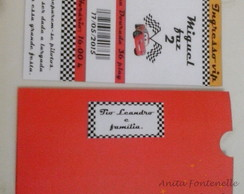 Convite ticket com envelope