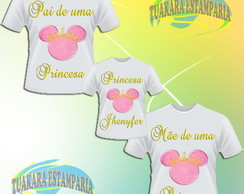 Kit Camiseta Princesa Minnie Rosa