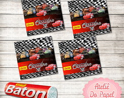 R�tulo p/ Chocolate Baton Carros Disney