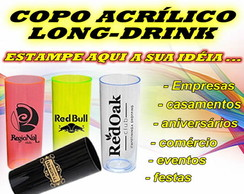 COPO ACR�LICA LONG DRINK - 300 ml