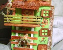 Telha com arte em madeira - VENDIDA