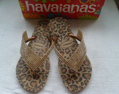 Havaianas Animals On�a Customizadas