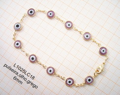L1025LC18,pulseira,olho,grego,6mm-5pe�as