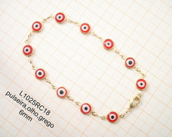 L1025RC18,pulseira,olho,grego,6mm-5pe�as