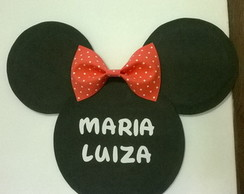 Display/Cabe�a da Minnie com nome