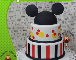 BOLO CENOGR�FICO MICKEY BISCUIT