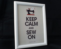 Quadrinho ''Keep Calm and Sew On''