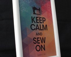 ''Keep Calm and Sew On'' (geom�trico)