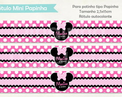 R�tulo Mini Papinha - Minnie Rosa