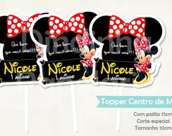 Topper Centro de Mesa - Minnie