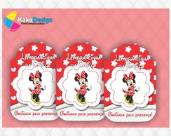 Tag Para Lembran�as Minnie Vermelha