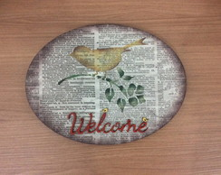 Placa Welcome-