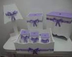 Kit Higiene mdf 7 pe�as lilas