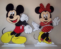 Kit Mickey e Minnie c/30 cm -Centro mesa