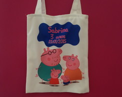 Eco bag personalizada Peppa pig