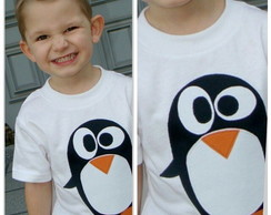 T- shrit infantil pinguim