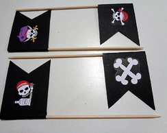 Piratas - Palitos decorados