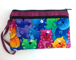 Clutch Case Patchwork - Cats