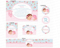 Kit digital beb� com tutu