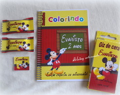 Kit colorir Mickey 15x10,5