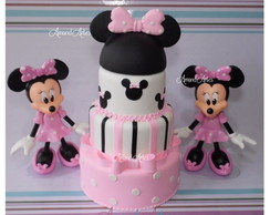 Kit Decora��o Minnie Rosa