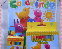 kit Colorir Backyardigans com Massinha
