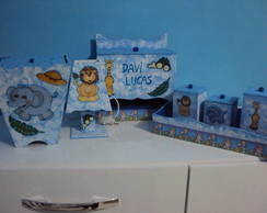 Kit Higiene Beb� Decorado 7 Pe�as + Brin