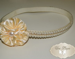 head band p�rolas e strass