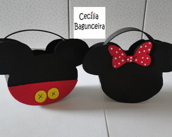 Bolsinha Surpresa Mickey ou Minnie