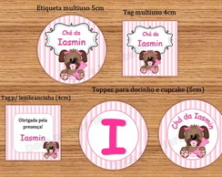 Kit Digital Cachorrinha Ch� de Beb�