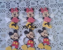Aplique/minnie/mickey/eva