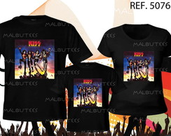 camiseta rock kiss kit com 3