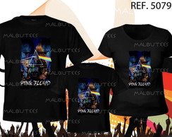 camiseta rock pink floyd kit com 3
