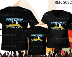 camiseta rock metallica kit com 3