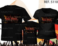 camiseta banda de rock kit com 3