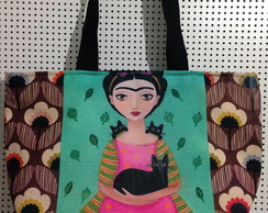Bolsa grande Frida Illustration