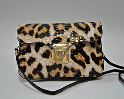 Bolsa com estampa de animal print