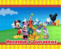 R�tulo Baton Casa do Mickey