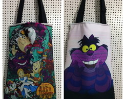 Bolsa dupla face Alice in Wonderland