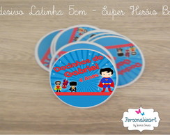 Adesivo Latinha 5x1 - Super Her�is Baby